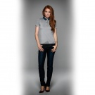 Поло женское DNM Forward/women, пестро-серое/denim/heather grey